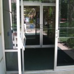 Automatic door opened